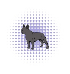 French bulldog icon comics style vector