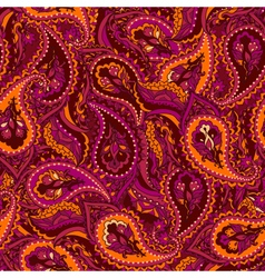 Seamless paisley indian pattern vector
