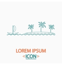Island computer symbol vector
