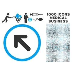 Arrow Left-Up Icon with 1000 Medical Business vector image vector image