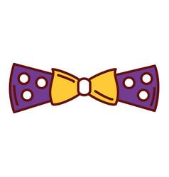Elegant bowtie isolated icon vector
