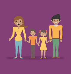 Family parents childrens happy together vector