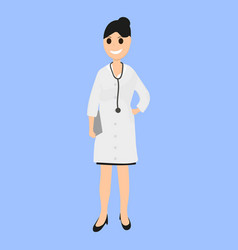 female doctor pediatrician in hospital vector image vector image