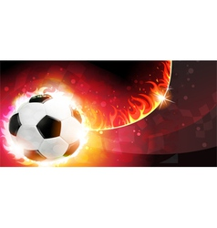 Flaming soccer ball vector image