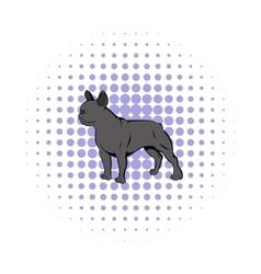 French bulldog icon comics style vector image