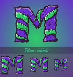 Halloween decorative alphabet - m letter vector