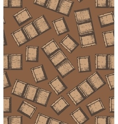 hand drawn chocolate background vector image