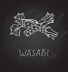 hand drawn wasabi vector image vector image