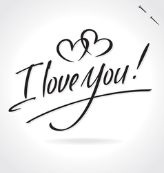 I love you hand lettering vector