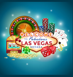 icons set of gambling in las vegas vector image