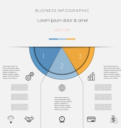 Infographic color semicircle on three positions vector image vector image