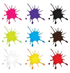 ink drop vector image
