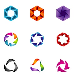 logo design elements set 60 vector image vector image