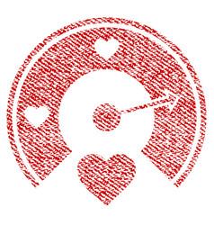 Love gauge fabric textured icon vector