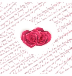 Love note card - text pattern with hearts eps 10 vector