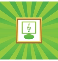 Music monitor picture icon vector