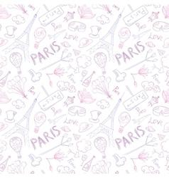 Paris Symbols Pattern vector image vector image
