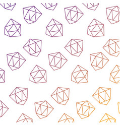 pattern style memphis diamond decoration design vector image