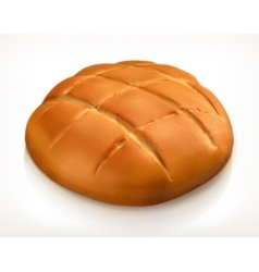 Round bread icon vector image vector image