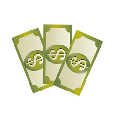 Set collection banknote with dollar sign vector