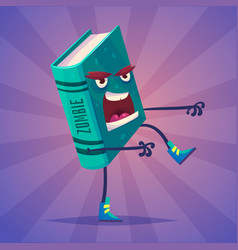 set of book characters cute cartoons vector image