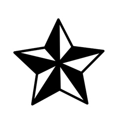Silhouette monochrome star of five points vector