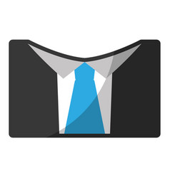 Suit with tie icon vector