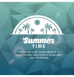 Summer design palm tree icon polygon design vector image