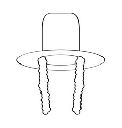 traditional jewish hat icon vector image vector image