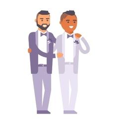 Wedding gay couples characters vector