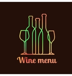 Wine menu card design vector image