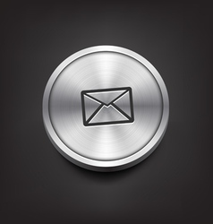 Metal email icon vector