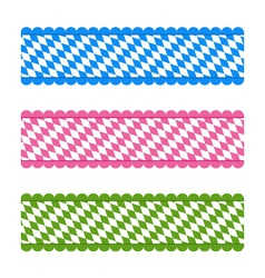 Bavarian ribbons vector