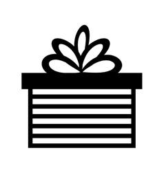 Pictogram gift box present ribbon vector