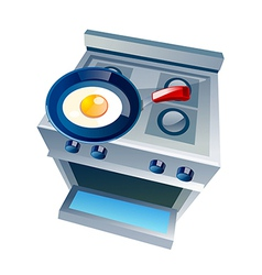 Icon gas range and oven vector
