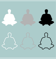 Meditation man or person icon vector