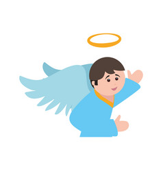 Holy spiritual angel vector