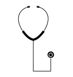 Stethoscope medical isolated icon vector