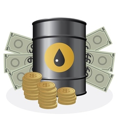 Oil and money vector