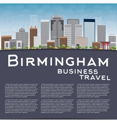 Birmingham alabama skyline vector