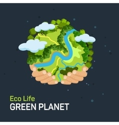 Earth day concept vector
