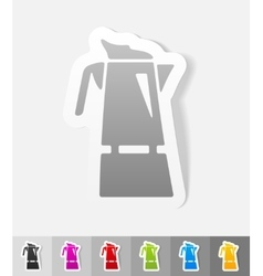Realistic design element coffee pot vector