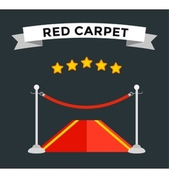 Vip zone red carpet vector