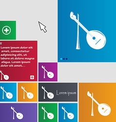 Balalaika icon sign buttons modern interface vector