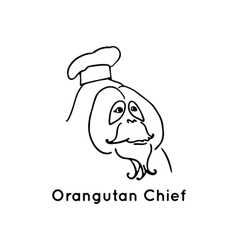 Orangutan chief logo isolated vector