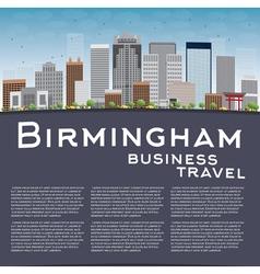 Birmingham Alabama Skyline vector image vector image