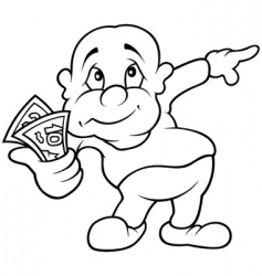 character with money vector image vector image