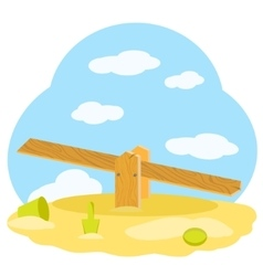 Children wooden swing vector image