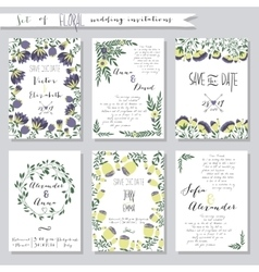 Collection of wedding vector image