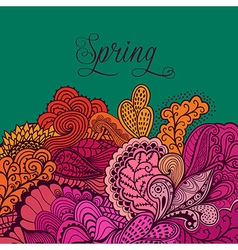 Decorative element lace border spring lettering vector